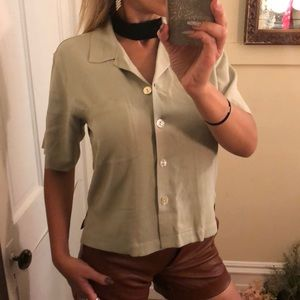 Tommy Bahama Nude green blouse XS New